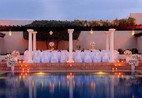 فندق ماريوت جي دبليو دبي - Outdoor Wedding Setup