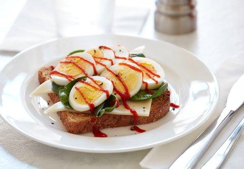 Residence Inn Salt Lake City Murray - Toast with Hard Cooked Eggs