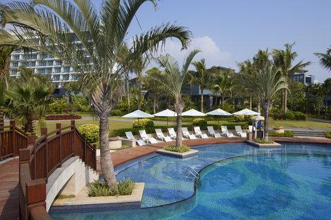 The Westin Sanya Haitang Bay Resort - Central Lawn view from Lap Pool