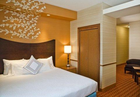 Fairfield Inn & Suites White Marsh - King Suite   Sleeping Area