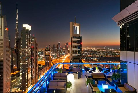 Four Points by Sheraton Sheikh Zayed Road, Dubai - Level 43 Rooftop Lounge