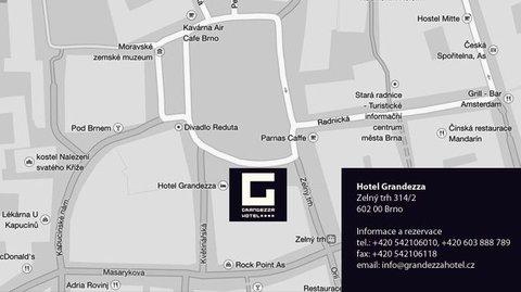 Hotel Grandezza - location map