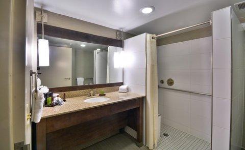 Embassy Suites Hotel-Denver Stapleton - Accessible Bathroom Roll-In Showe