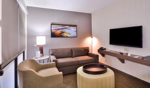 Embassy Suites Hotel-Denver Stapleton - Accessible Room  Living Area