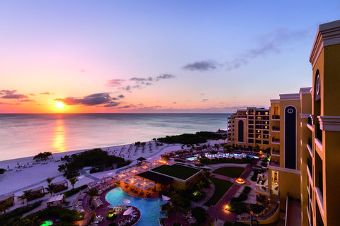 The Ritz-Carlton, Aruba - Exterior at sunset