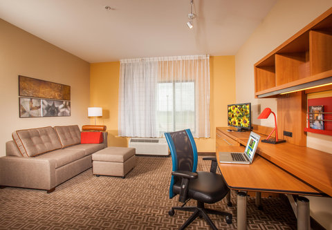 TownePlace Suites Cheyenne - One-   Two-Bedroom Suite Living Area
