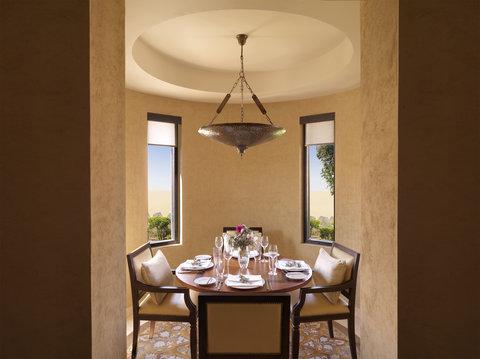 أنتارا قصر السراب منتجع الصحراء - Royal Pavilion Villas Villa Dining Room