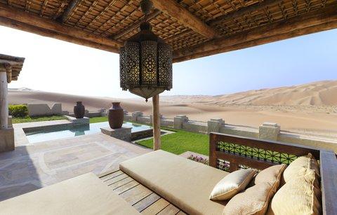 أنتارا قصر السراب منتجع الصحراء - Royal Pavilion Villas Villa Terrace Cabana