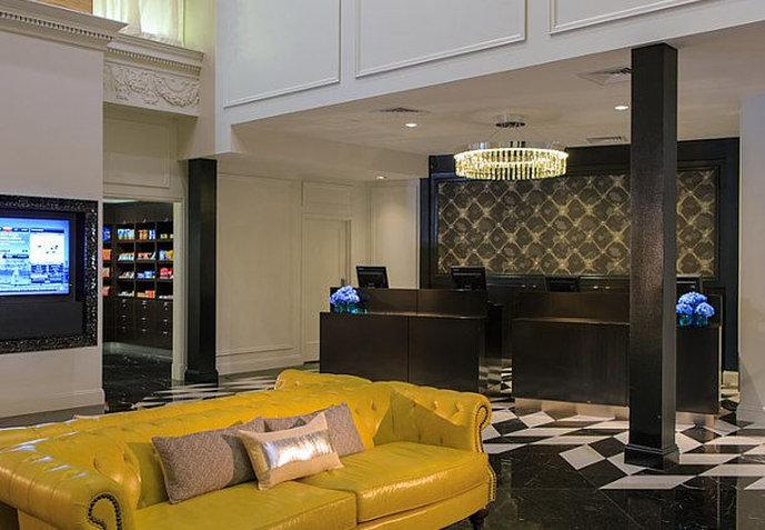 Courtyard Boston Tremont Hotel Lobby