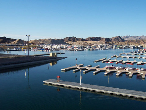 Lake Mohave Marina and Lodge - Lake Mohave Motel Marina View