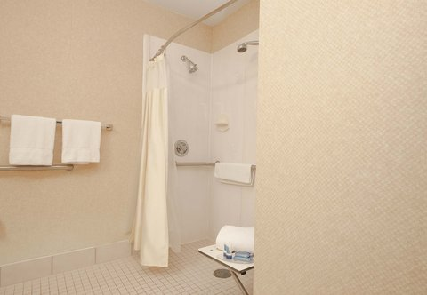 Fairfield Inn By Marriott Beaumont - Accessible Guest Bathroom   Roll-in Shower