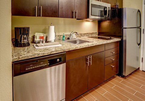 TownePlace Suites Oklahoma City Airport - Studio   One-Bedroom Suite Kitchen