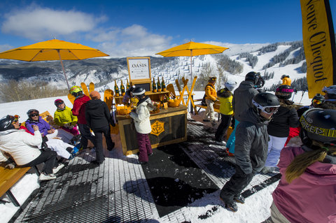 The Little Nell - The Oasis Pop Up Champagne Bar on Aspen Mtn