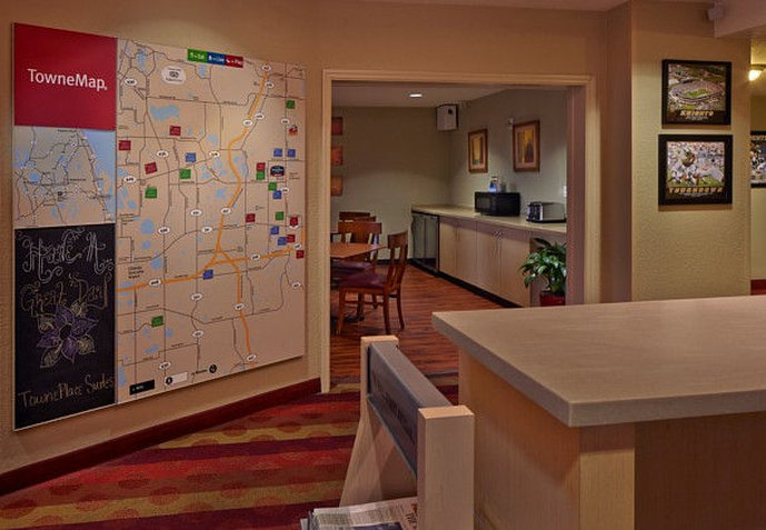 TownePlace Suites Orlando East/UCF Kort