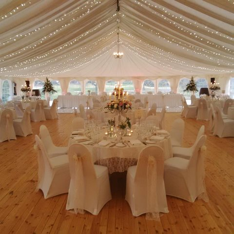 Meldrum House Hotel - Marquee Set Up