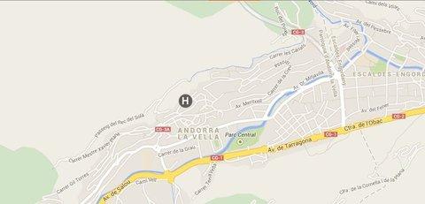 Hotel Andorra Center - Andorra Center Situation Map