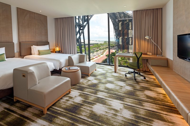 Crowne Plaza Hotel Changi airport Вид в номере