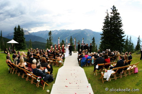 The Little Nell - The Wedding Deck  top of Aspen Mountain