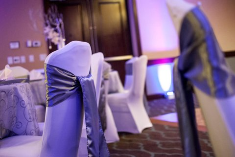Embassy Suites Market Center Hotel - Table and Chairs Decorated for Wedding