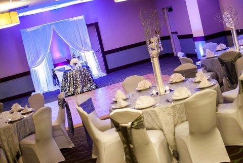 Embassy Suites Market Center Hotel - Ballroom Set up for Wedding Reception