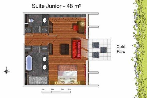 日内瓦香格里拉酒店及温泉 - Suite Junior