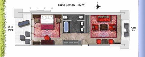 日内瓦香格里拉酒店及温泉 - Suite Leman