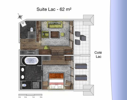 日内瓦香格里拉酒店及温泉 - Suite Lac