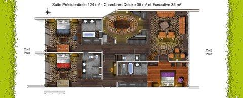 日内瓦香格里拉酒店及温泉 - Suite Presidentielle Connect EDeluxe Et Executive
