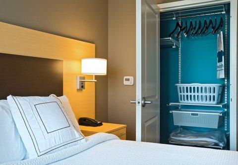 TownePlace Suites Dodge City - King Studio Suite   elfa Closet