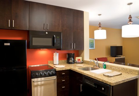 TownePlace Suites Dodge City - One-   Two-Bedroom Suite   Kitchen Area