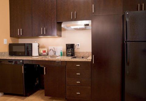 TownePlace Suites Dodge City - Accessible Studio Suite   Kitchen Area