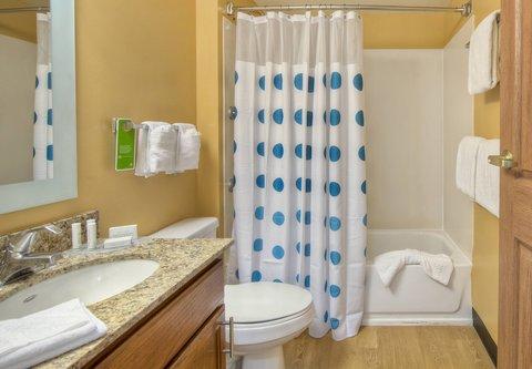 TownePlace Suites Charlotte University Research Park - Home Office Studio Suite - Bathroom