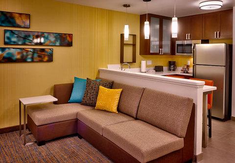 Residence Inn Salt Lake City Murray - Studio Suite   Living Area   Kitchen