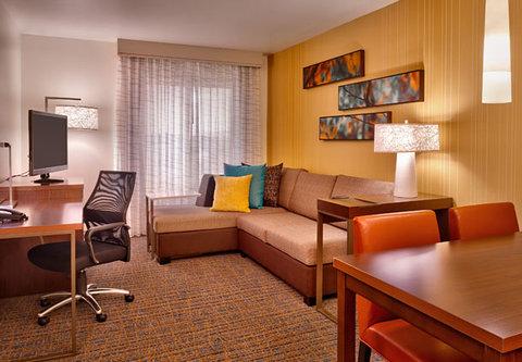 Residence Inn Salt Lake City Murray - One-Bedroom Suite   Living   Dining Area