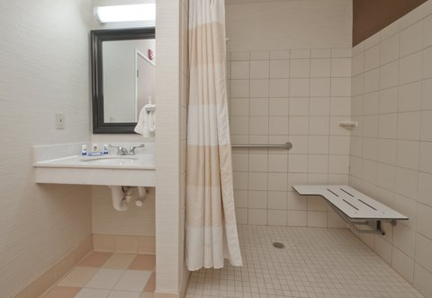 Fairfield Inn Bozeman - Accessible Guest Bathroom - Roll-In Shower