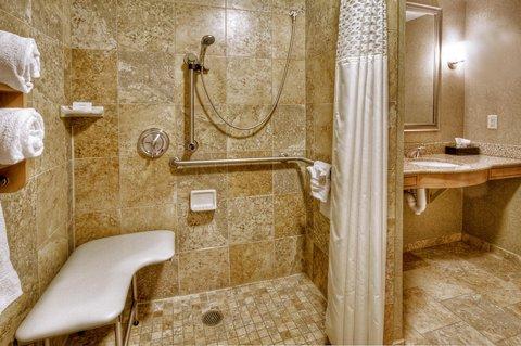 Hampton Inn - Suites Nashville-Vanderbilt-Elliston Place - King Accessible Suite Roll-in Shower