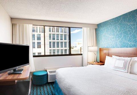 Fairfield Inn & Suites Charlotte Uptown - King Guest Room
