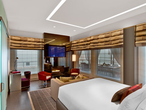 The Joule Dallas Preferred Hotels and Resorts - Penthouse Bedroom