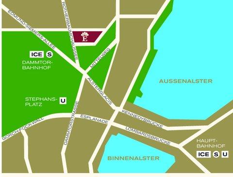 غراند إيليسي هامبورغ - Map GRAND ELYSEE HAMBURG