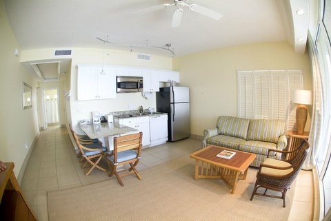 Pink Shell Beach Resort - Captiva Villas Kitchen and Living Room Area