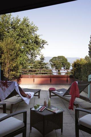 日内瓦香格里拉酒店及温泉 - Deluxe Room Lake View - Terrace