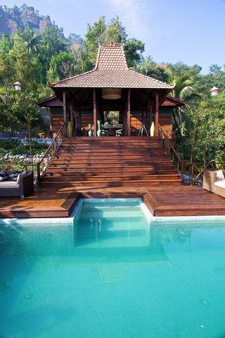 Villa Borobudur - Front View Pool Villa Menoreh