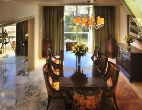 Taj Cape Town - Presidential Suite dinning