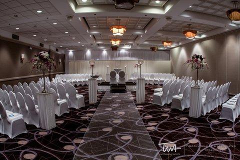 Holiday Inn Chicago Mart Plaza Hotel - Sauganash Ballroom Wedding Ceremony