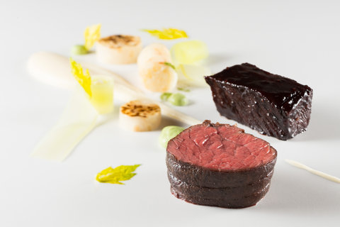 Hotel Tannenhof - Fillet and rib of beef celery mash lovage emulsion